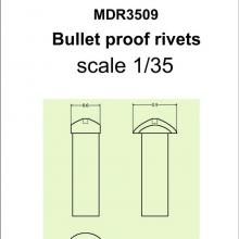SMDR3509 Bullet proof rivets