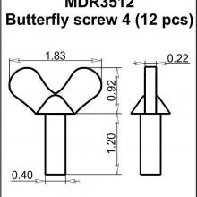 MDR3512 Butterfly screw 4