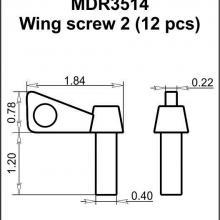 MDR3514 Wing screw 2