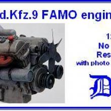 3507 Sd.Kfz.9 FAMO engine