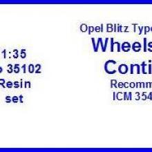 35102 Opel Blitz Type 2,5-32 (1,5 ton) Wheels 6.5x18