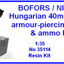 35114 Bofors/Nimrod Hungarian 40mm 42a.M armour-piercing ammo & ammo box
