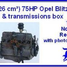 3512 3,6 L (3626 cm3) 75HP Opel Blitz engine & transmissions box