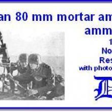 3527 German 80mm mortar ammo & ammo box