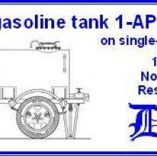 3557 1000 l gasoline tank on single-axle trailer