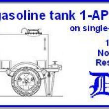 3557 1000 l gasoline tank on single-axle trailer