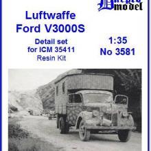 3581 Luftwaffe Ford V3000S Detail set for ICM 35411