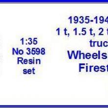 3598 Ford 1.5, 2.0, 2.5, 3.0 ton trucks Wheels 7.5x20