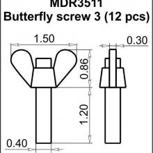 MDR3511 Butterfly screw 3