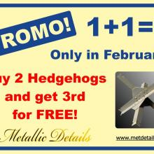 Promo: Buy 2 Hedgehogs and get 3rd for FREE!